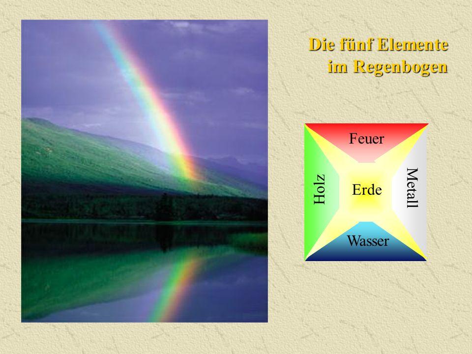 Die fünf Elemente im Regenbogen