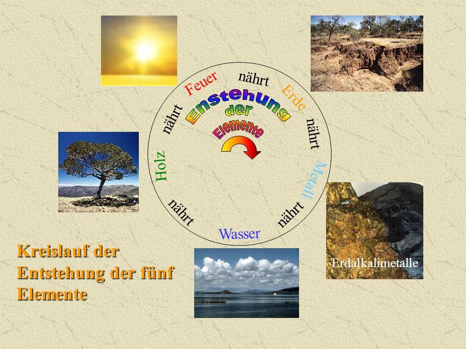 Kreislauf der Entstehung der fünf Elemente