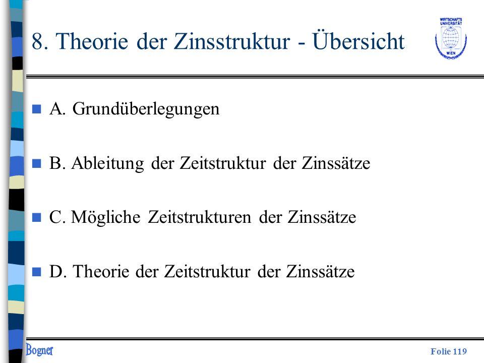 8. Theorie der Zinsstruktur - Übersicht
