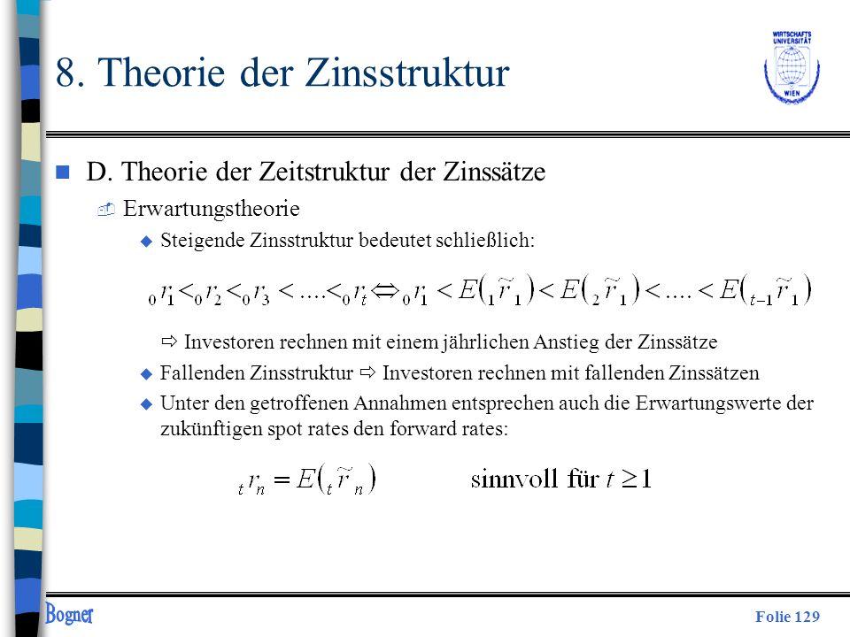 8. Theorie der Zinsstruktur