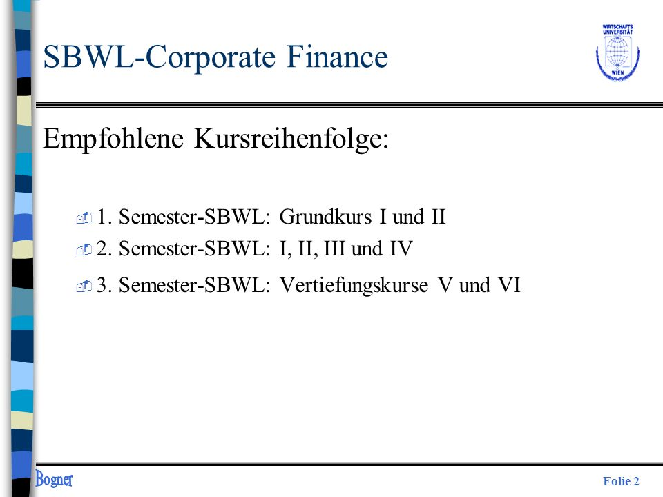 SBWL-Corporate Finance