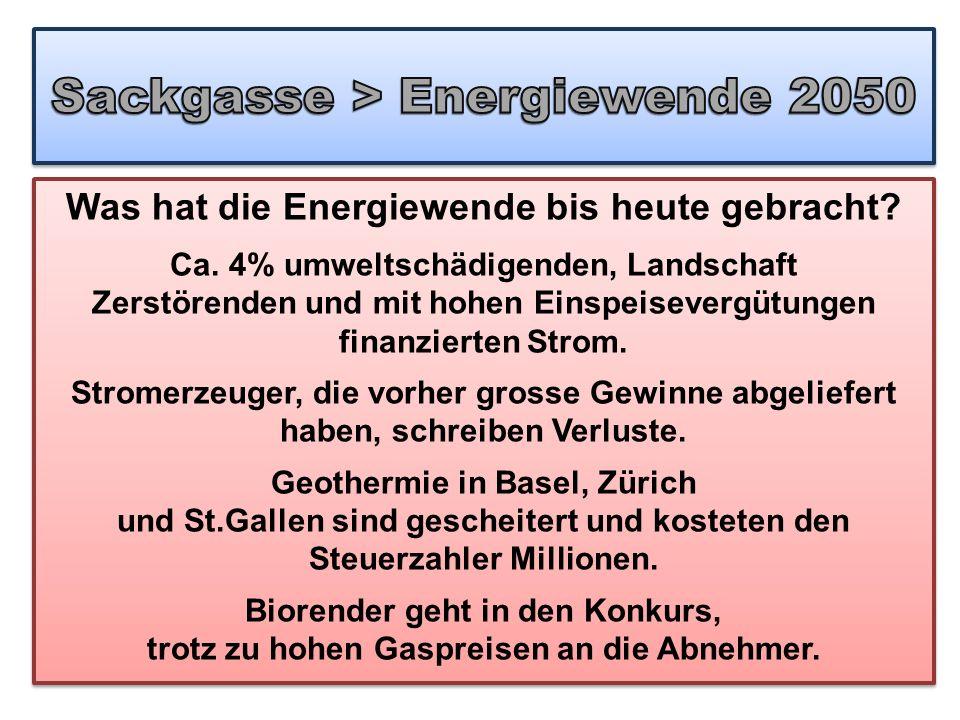 Sackgasse > Energiewende 2050