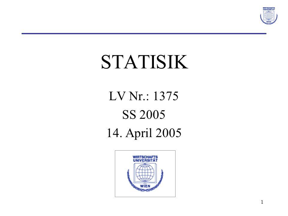 STATISIK LV Nr.: 1375 SS 2005 14. April 2005