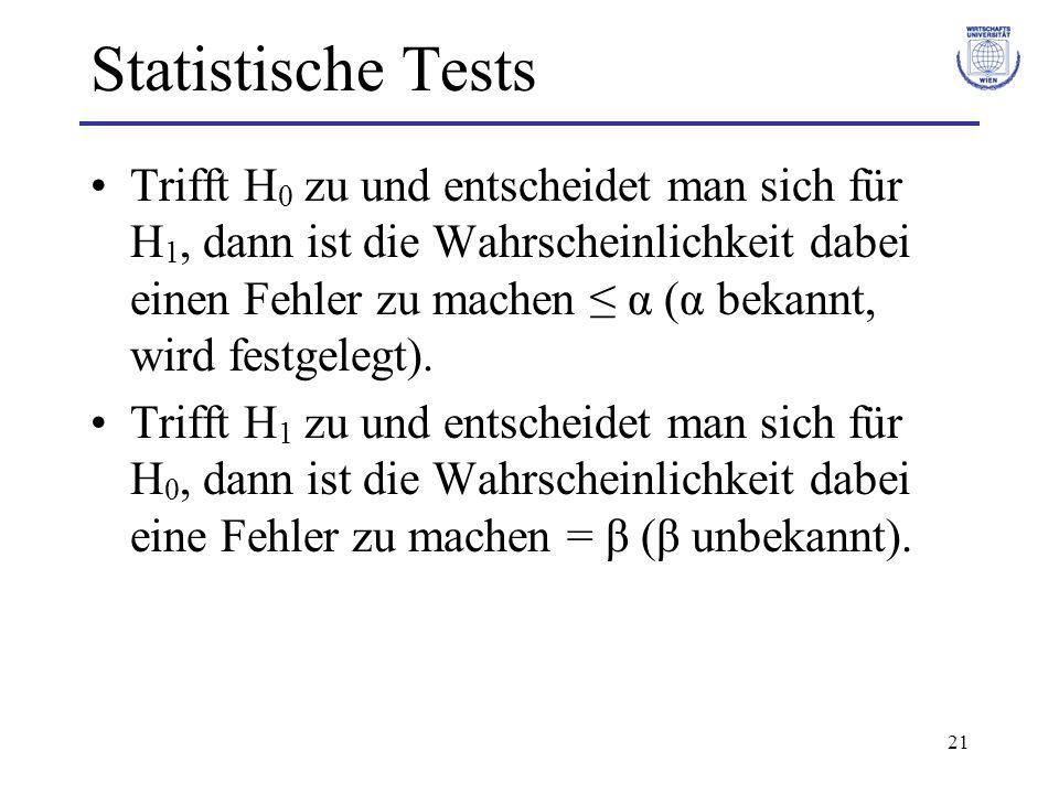 Statistische Tests