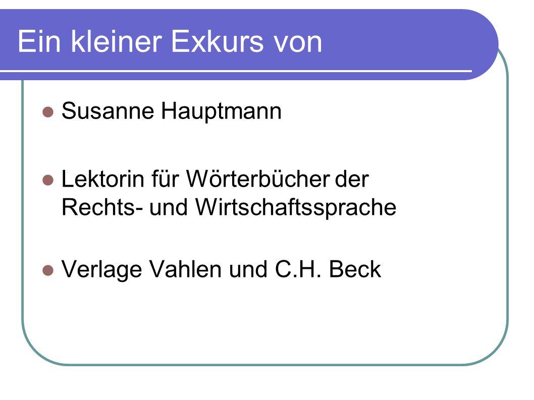 Ein kleiner Exkurs von Susanne Hauptmann