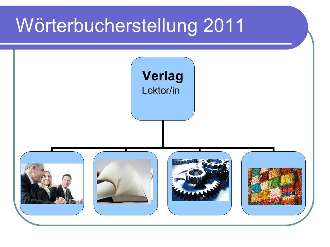 Wörterbucherstellung 2011
