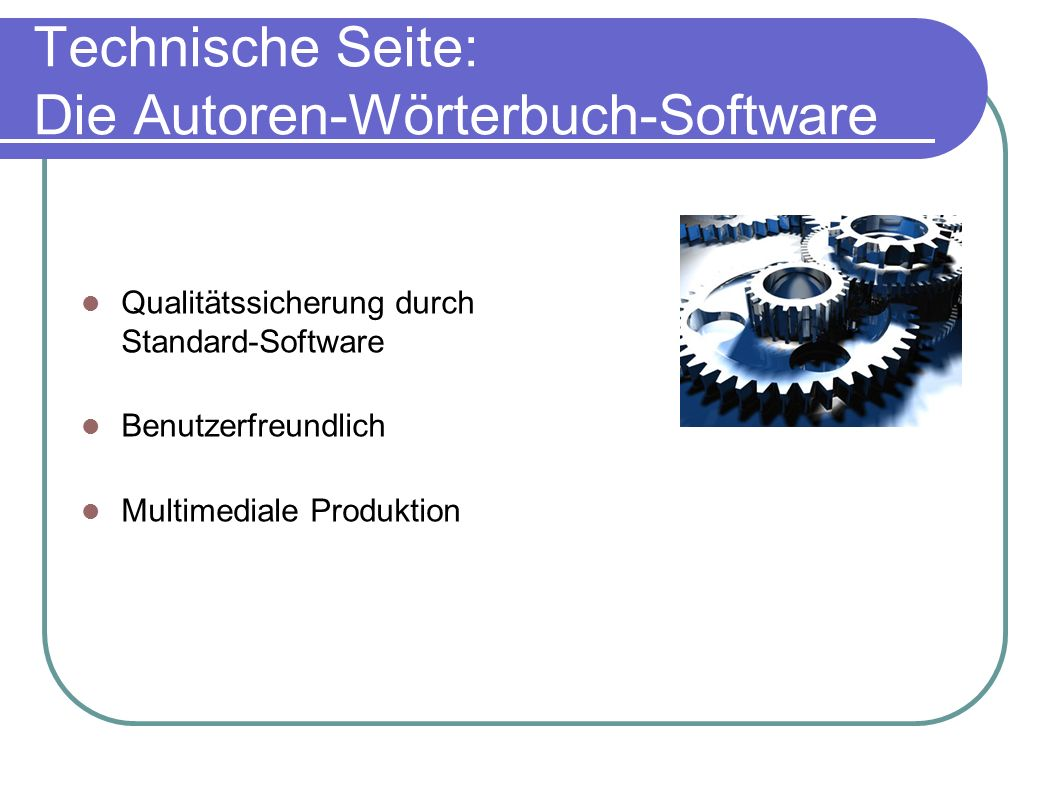 Technische Seite: Die Autoren-Wörterbuch-Software