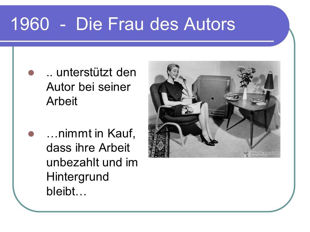 1960 - Die Frau des Autors .. unterstützt den Autor bei seiner Arbeit