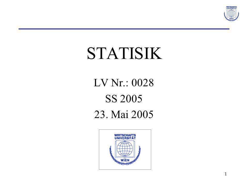 STATISIK LV Nr.: 0028 SS 2005 23. Mai 2005