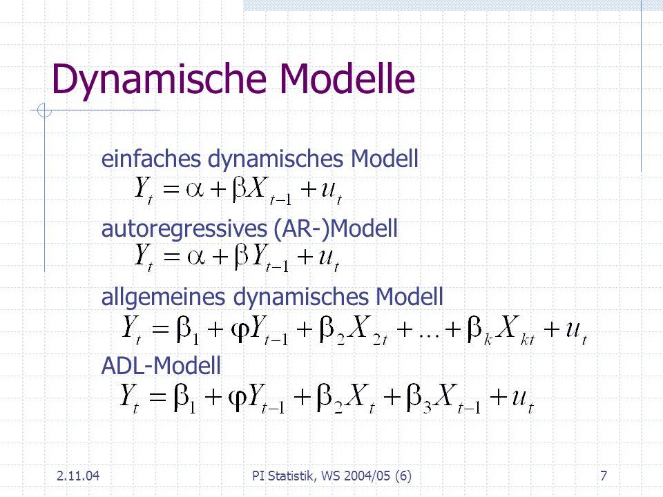 Dynamische Modelle einfaches dynamisches Modell