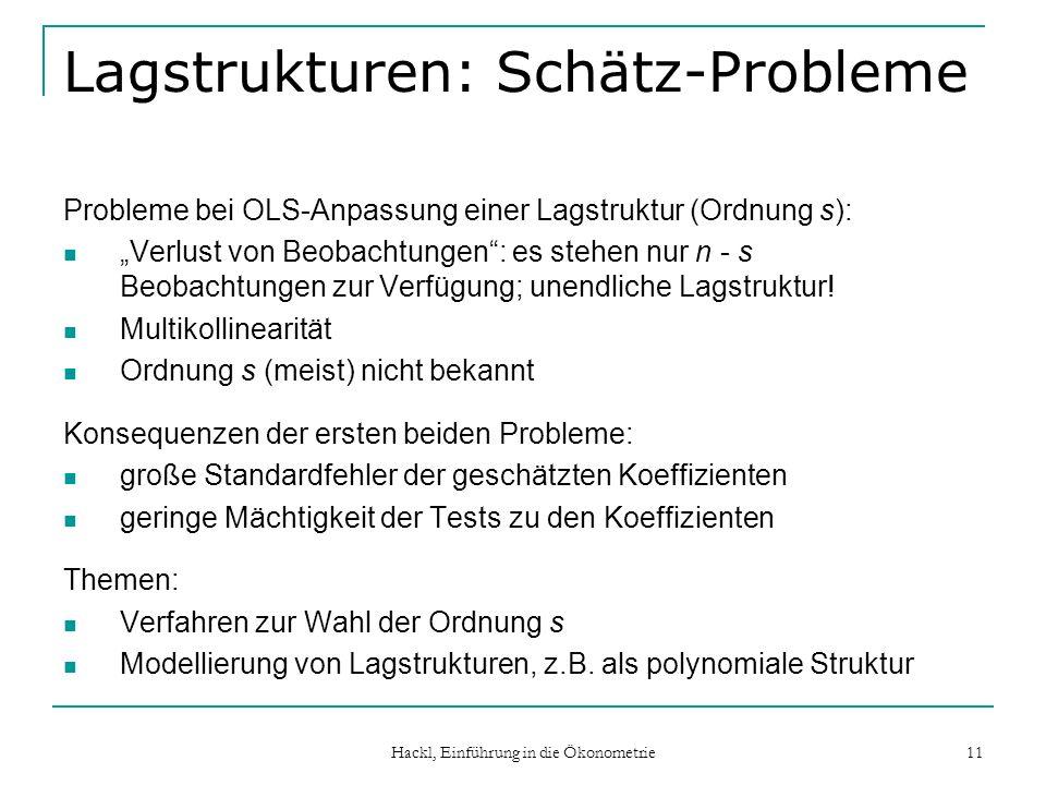 Lagstrukturen: Schätz-Probleme