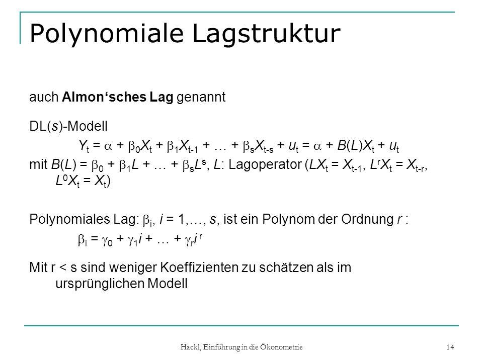 Polynomiale Lagstruktur