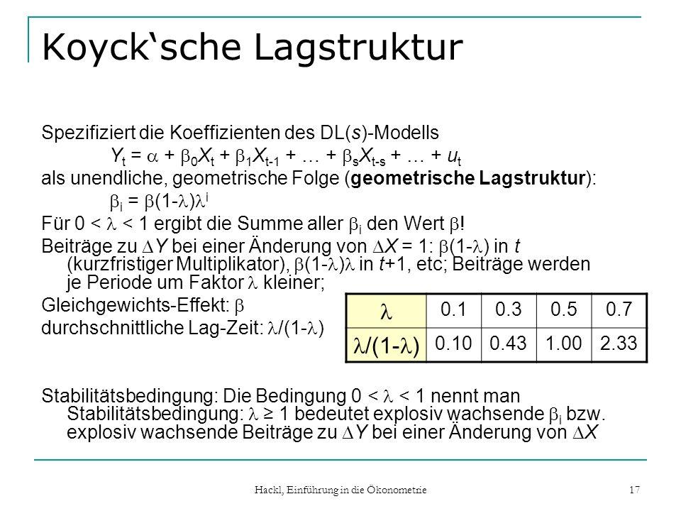 Koyck'sche Lagstruktur