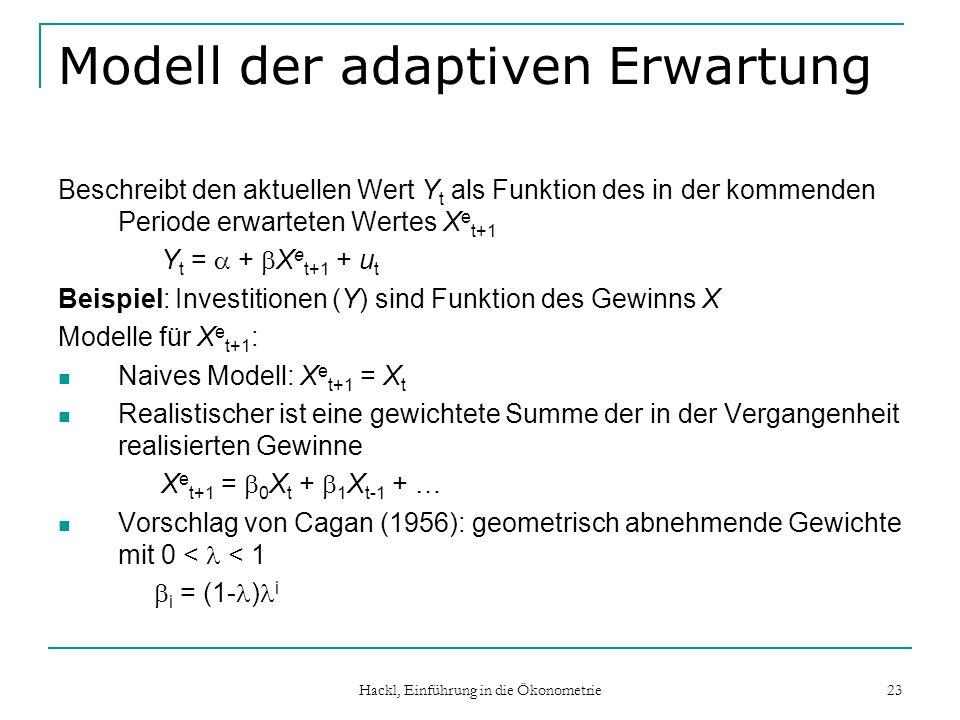 Modell der adaptiven Erwartung