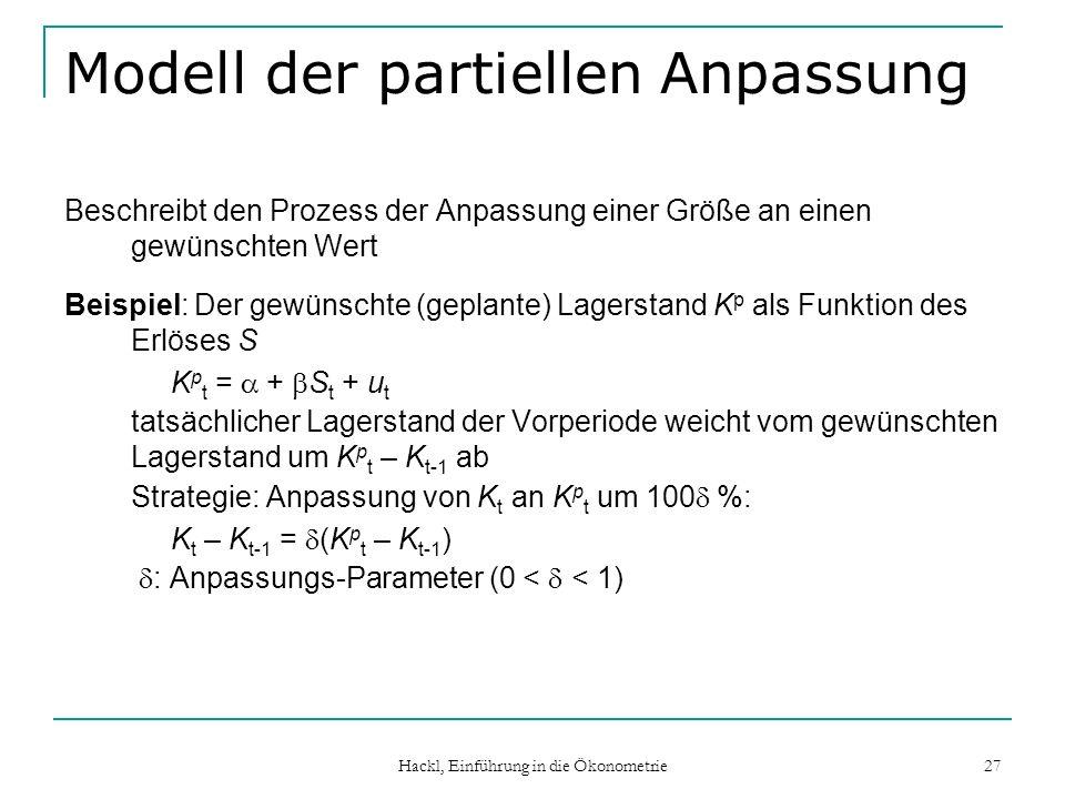 Modell der partiellen Anpassung