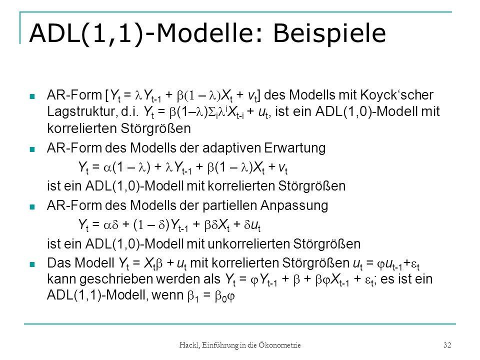 ADL(1,1)-Modelle: Beispiele