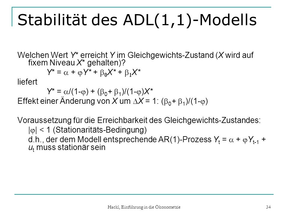 Stabilität des ADL(1,1)-Modells
