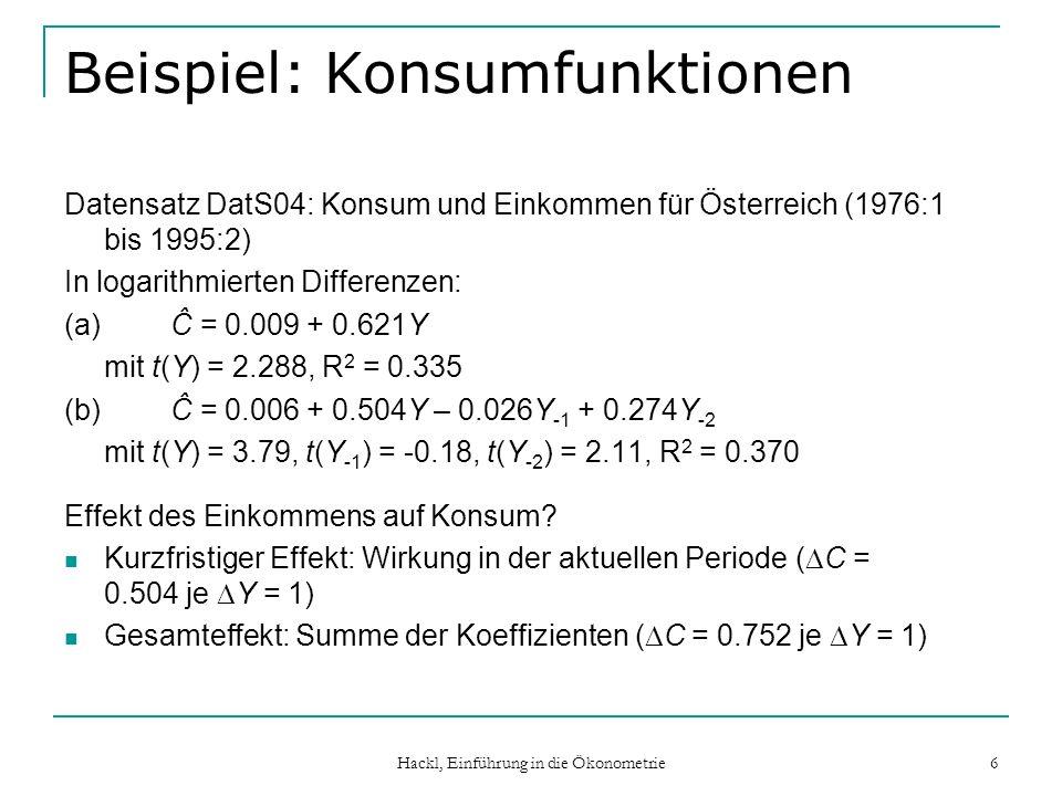 Beispiel: Konsumfunktionen