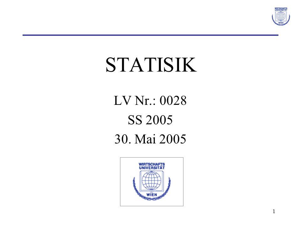 STATISIK LV Nr.: 0028 SS 2005 30. Mai 2005