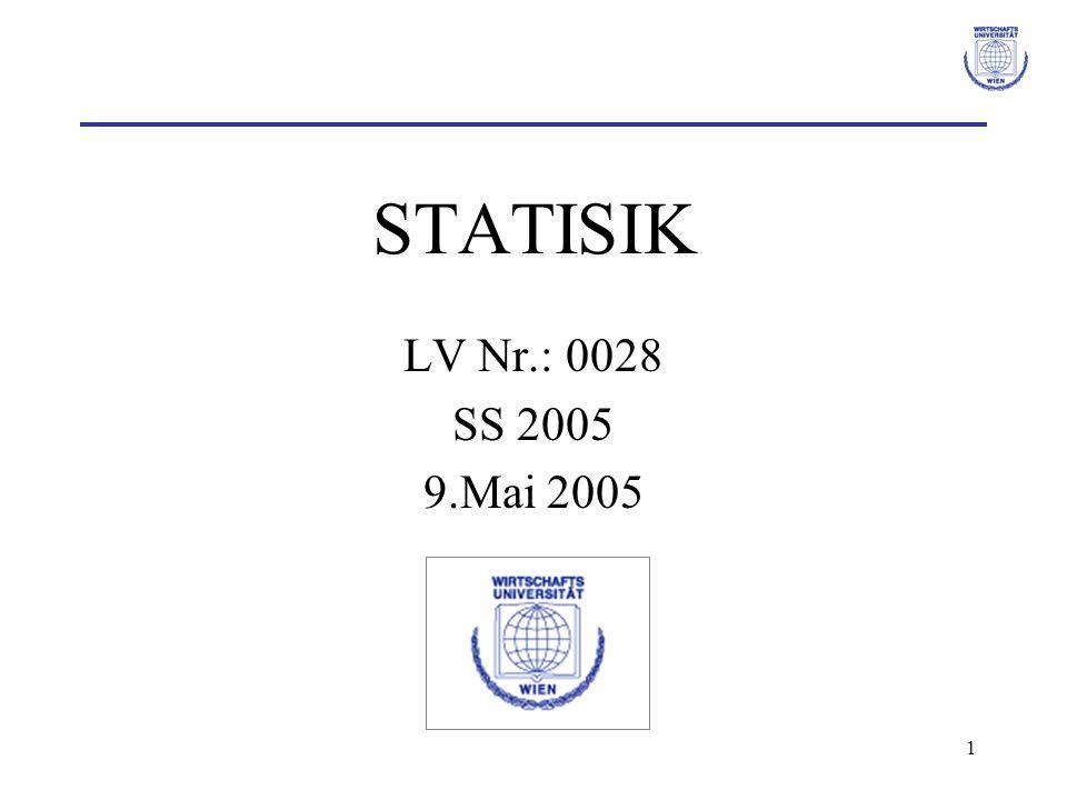 STATISIK LV Nr.: 0028 SS 2005 9.Mai 2005