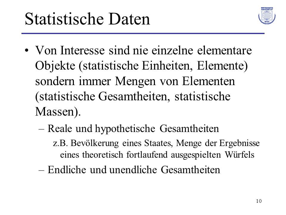 Statistische Daten
