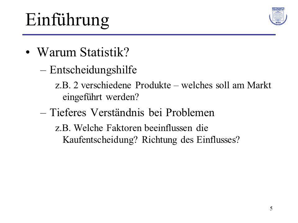 Einführung Warum Statistik Entscheidungshilfe