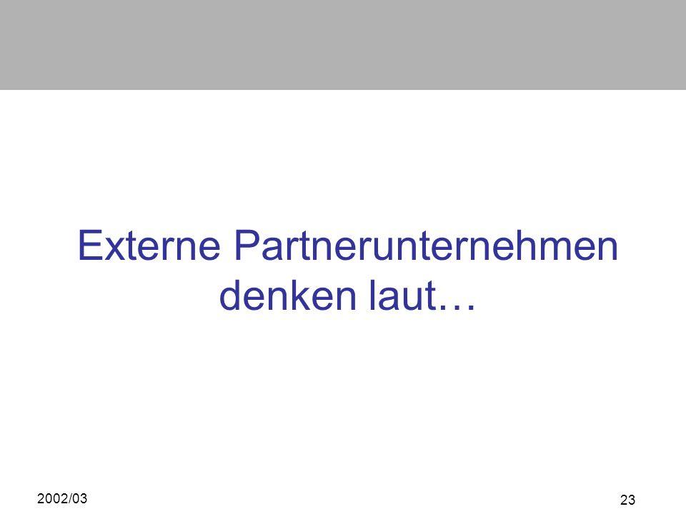 Externe Partnerunternehmen denken laut…