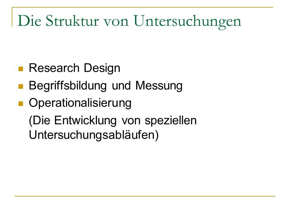 Die Struktur von Untersuchungen