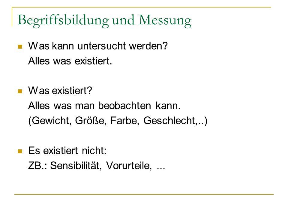 Begriffsbildung und Messung