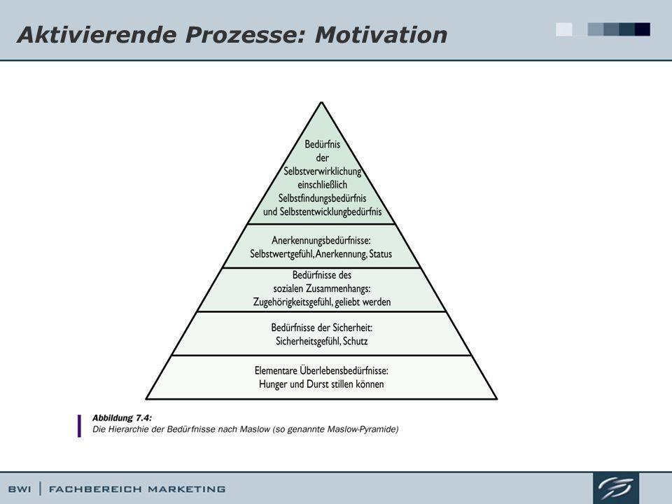 Aktivierende Prozesse: Motivation