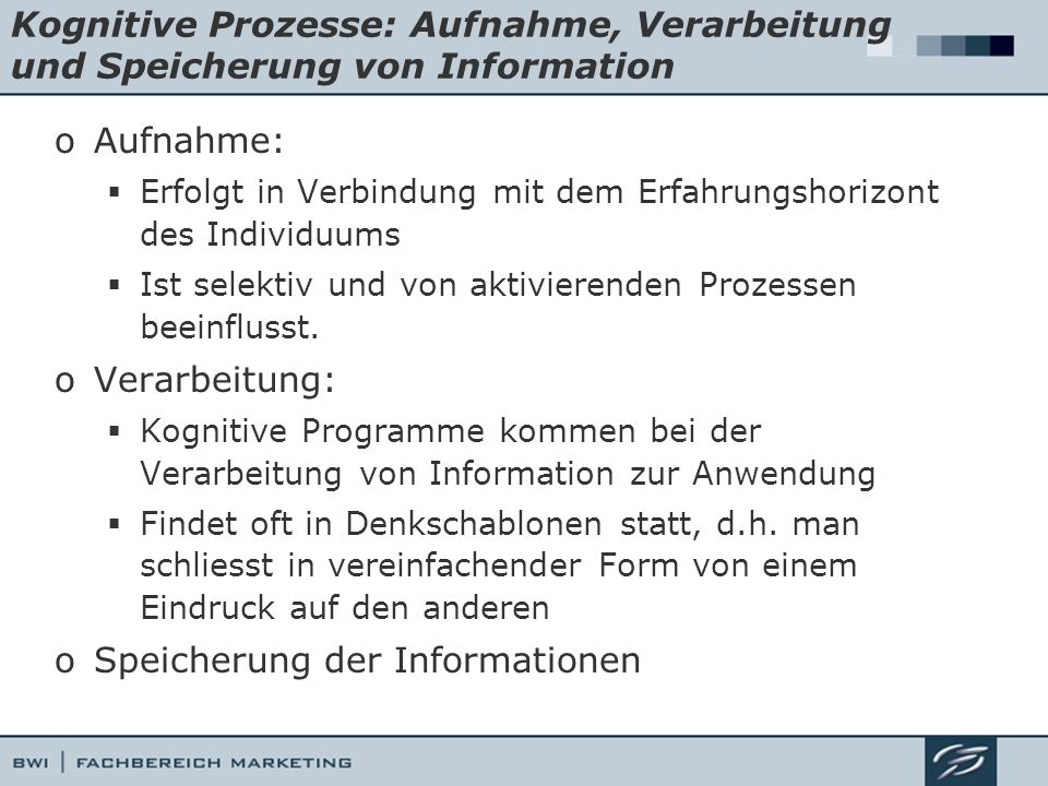 Speicherung der Informationen