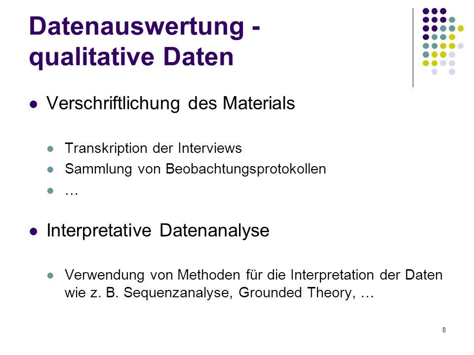 Datenauswertung - qualitative Daten