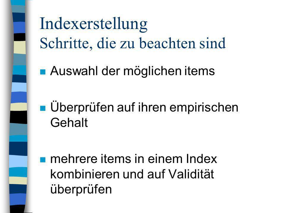 Indexerstellung Schritte, die zu beachten sind