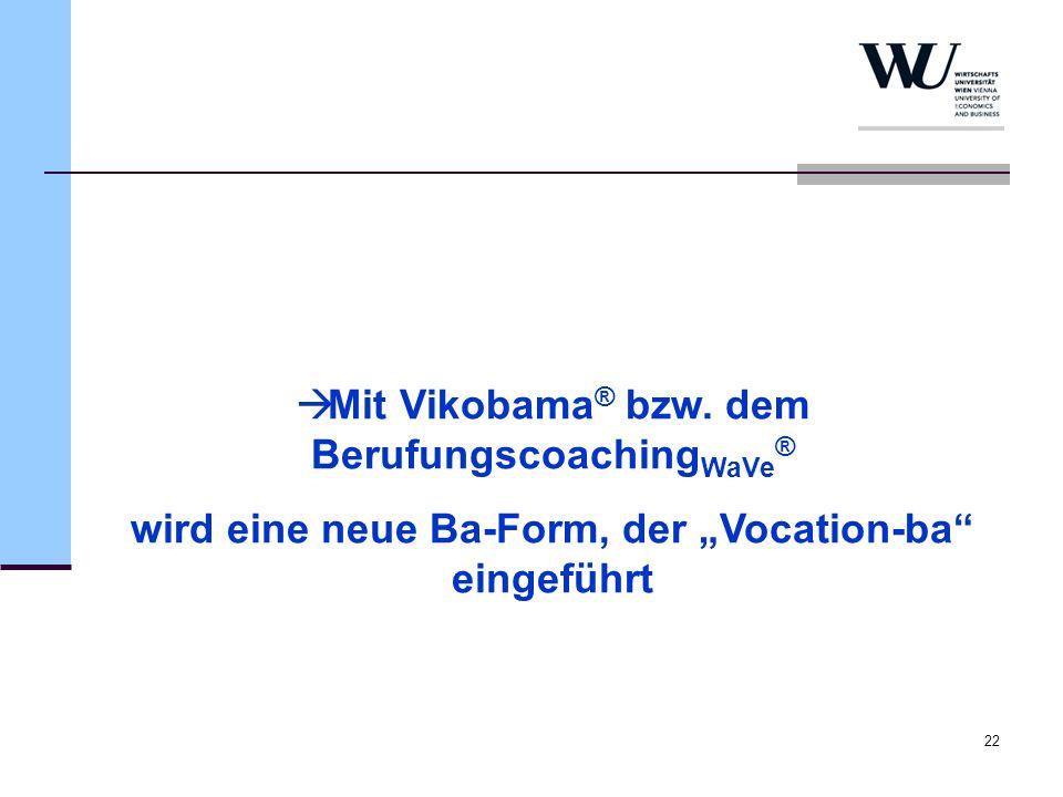 Mit Vikobama® bzw. dem BerufungscoachingWaVe®