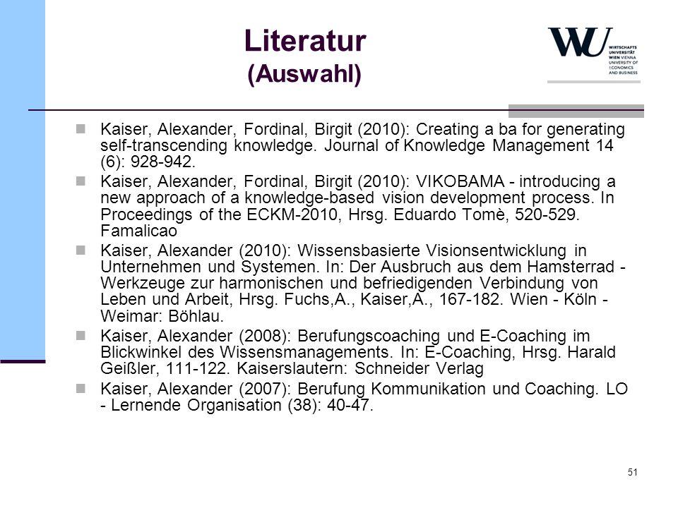 Literatur (Auswahl)