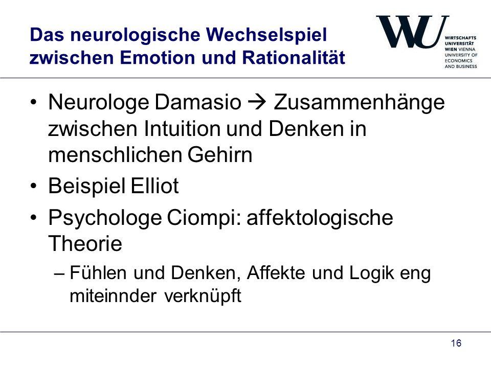 Das neurologische Wechselspiel zwischen Emotion und Rationalität
