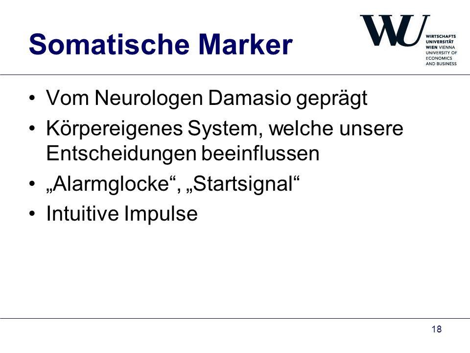 Somatische Marker Vom Neurologen Damasio geprägt