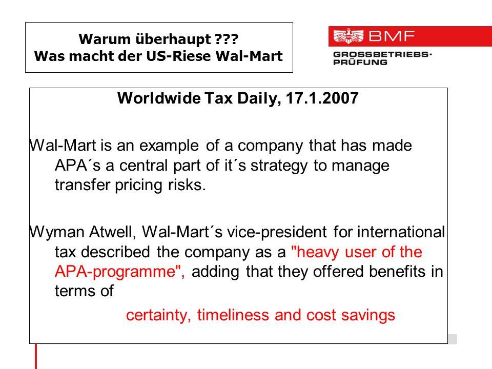 Warum überhaupt Was macht der US-Riese Wal-Mart