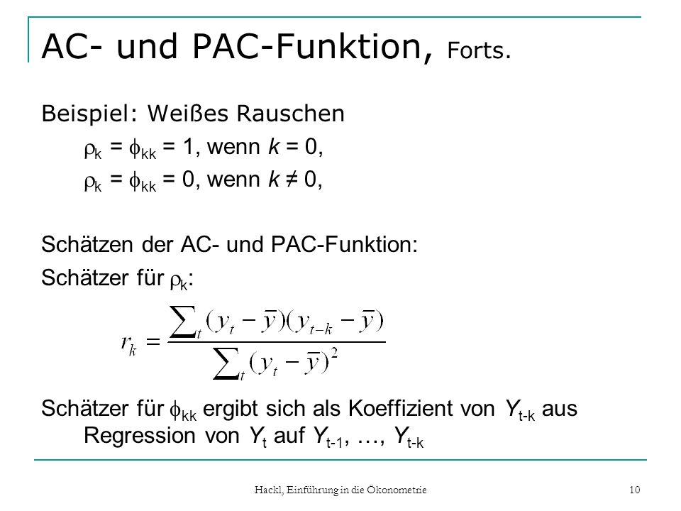 AC- und PAC-Funktion, Forts.