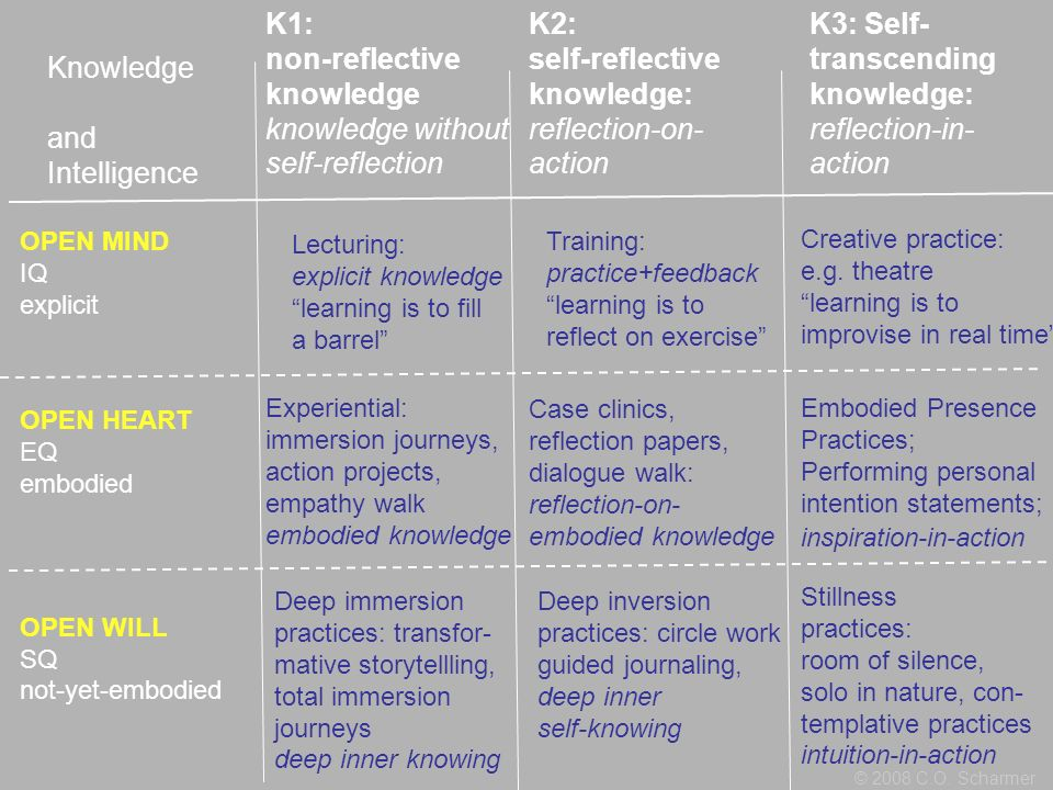 K1: non-reflective knowledge