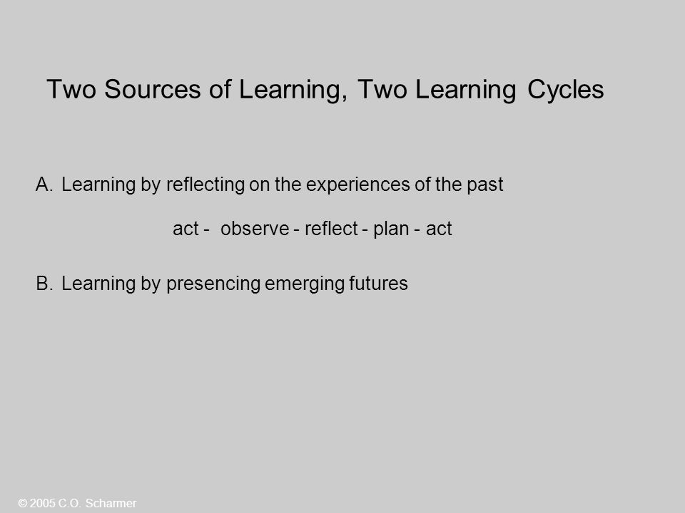 Two Sources of Learning, Two Learning Cycles