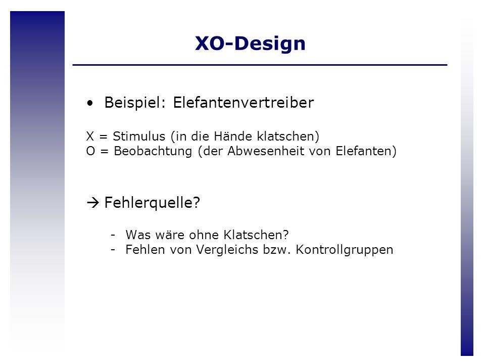 XO-Design Beispiel: Elefantenvertreiber Fehlerquelle