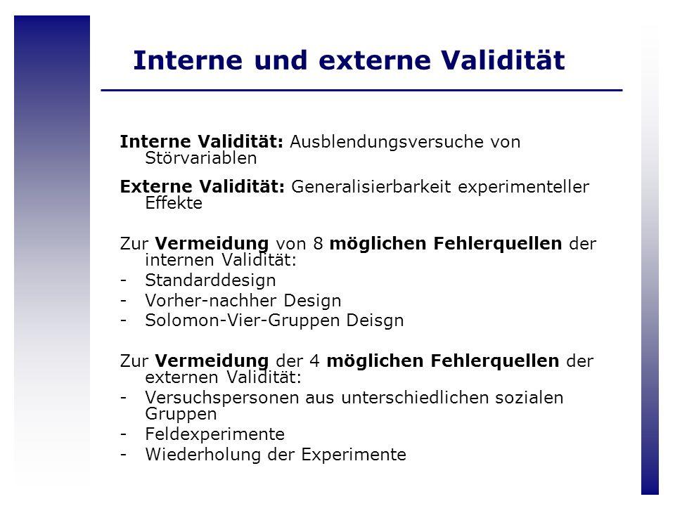 Interne und externe Validität