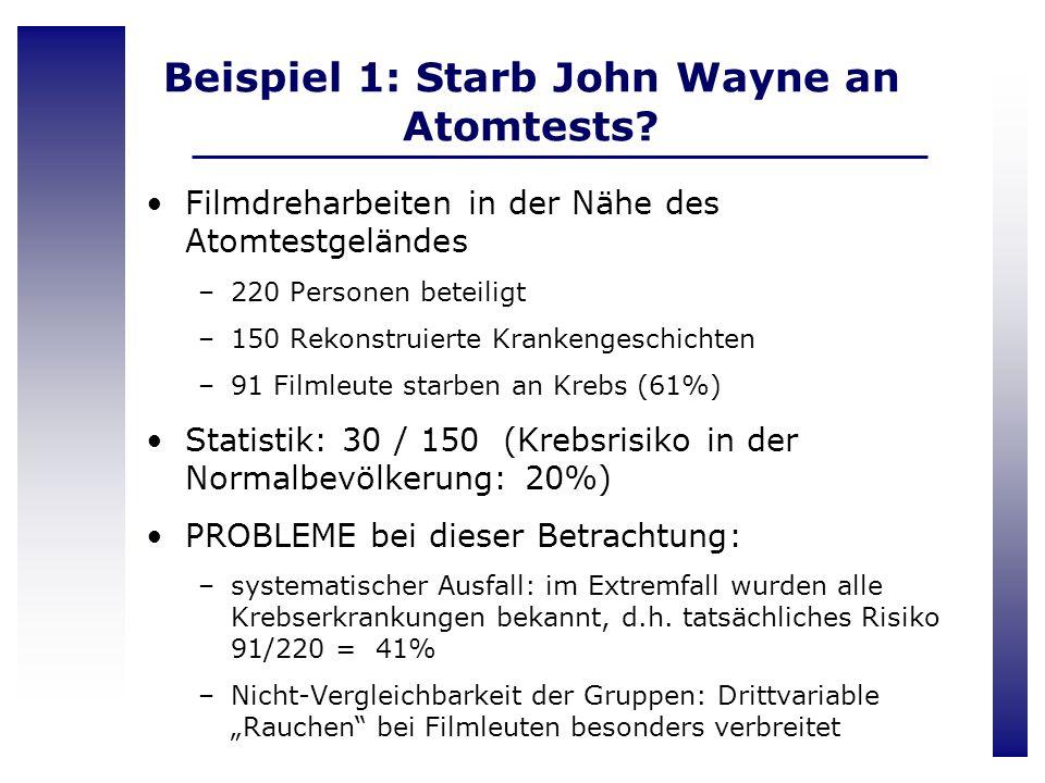 Beispiel 1: Starb John Wayne an Atomtests