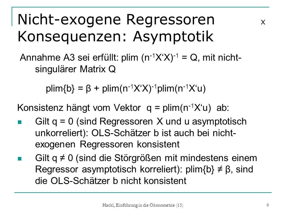 Nicht-exogene Regressoren x Konsequenzen: Asymptotik
