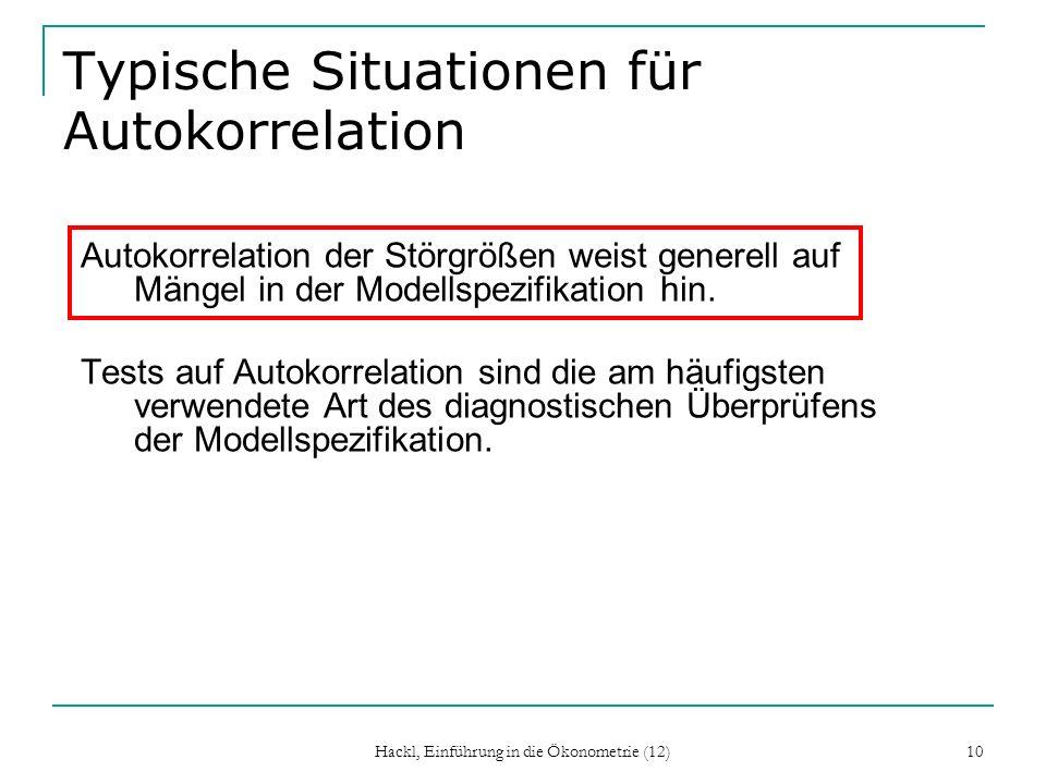 Typische Situationen für Autokorrelation