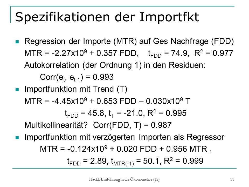 Spezifikationen der Importfkt