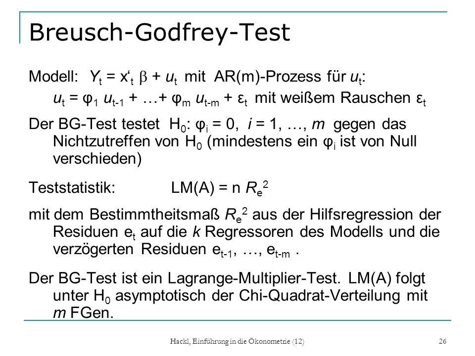 Breusch-Godfrey-Test