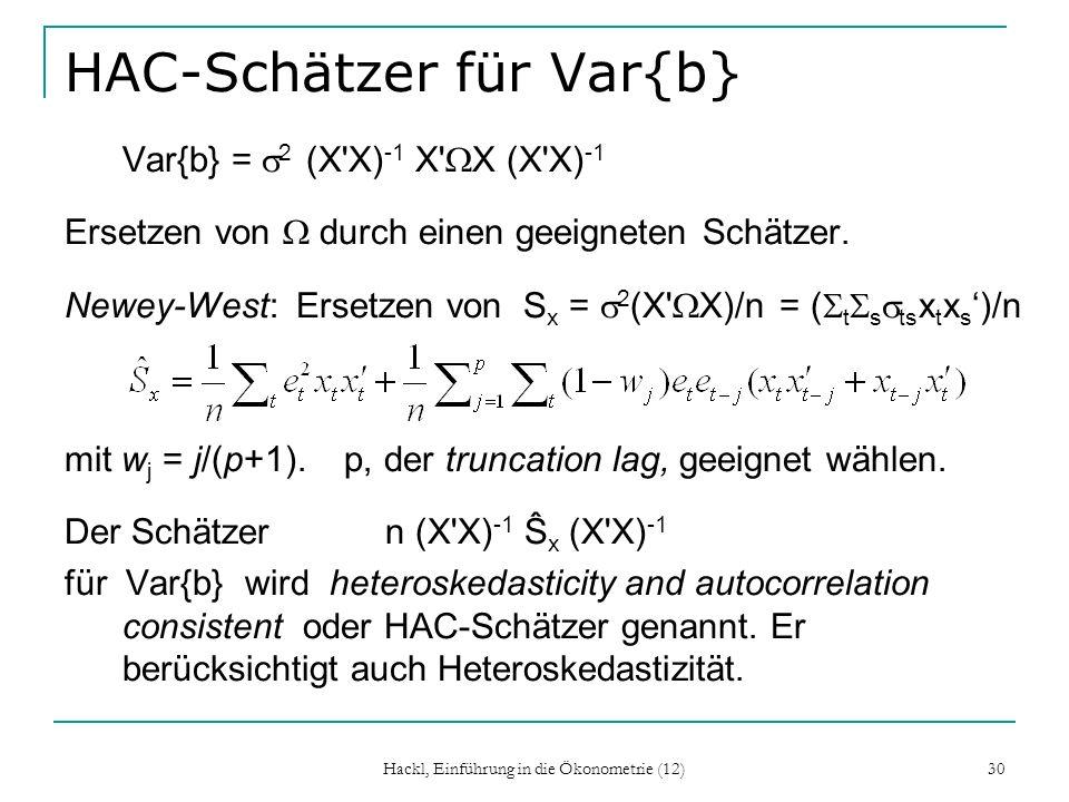 HAC-Schätzer für Var{b}
