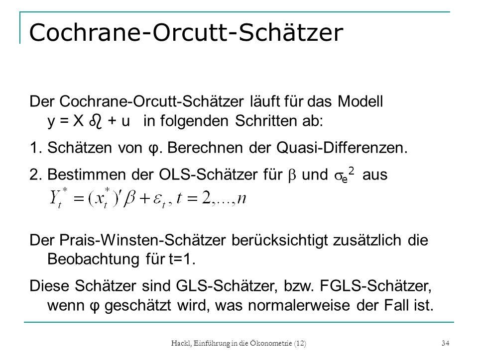 Cochrane-Orcutt-Schätzer